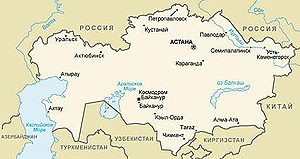 Территория Казахстана