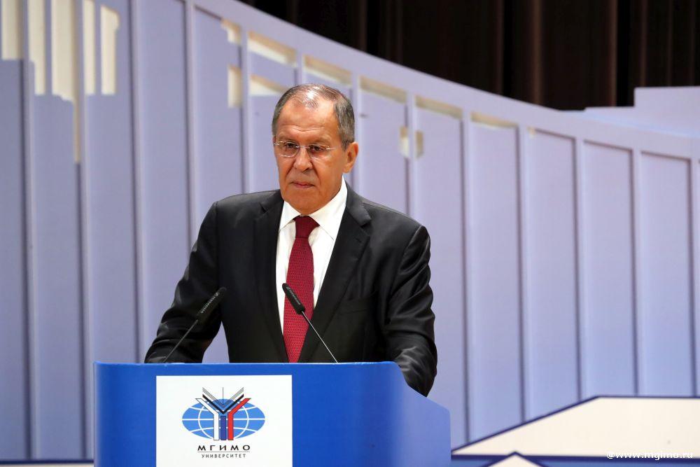 Выступление министра иностранных дел России С.В.Лаврова