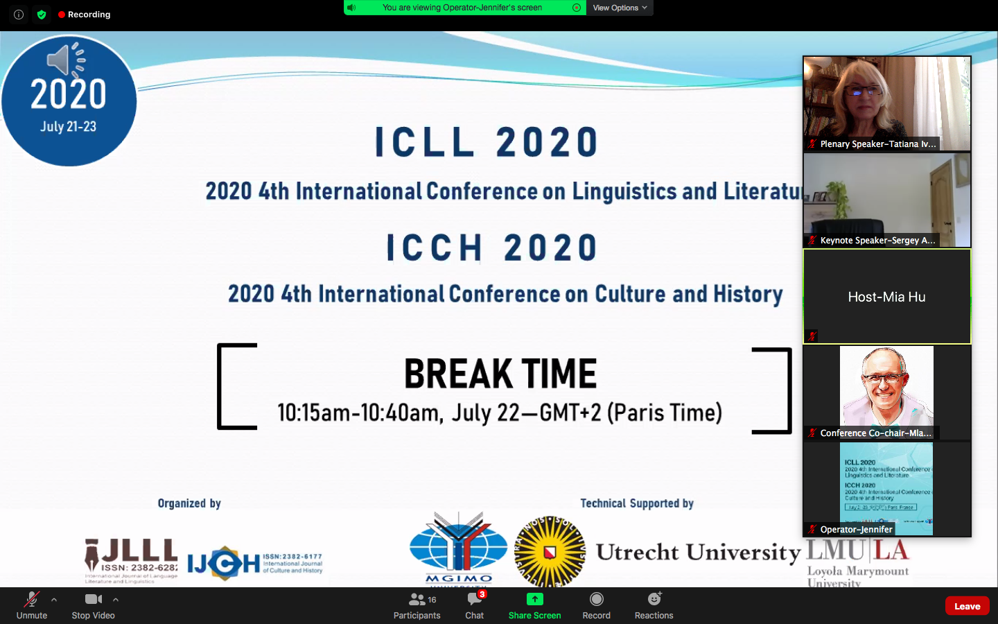 ICLL 2020 & ICCH 2020